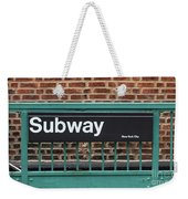 Subway Sign In New York City Weekender Tote Bag