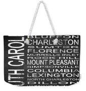 Subway South Carolina State Square Weekender Tote Bag