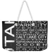 Subway Utah State Square Weekender Tote Bag