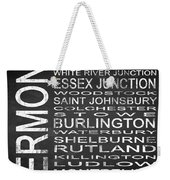 Subway Vermont State Square Weekender Tote Bag