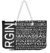 Subway Virginia State Square Weekender Tote Bag