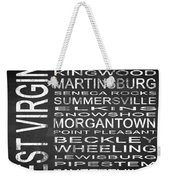 Subway West Virginia State Square Weekender Tote Bag