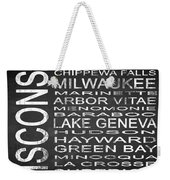 Subway Wisconsin State 2 Square Weekender Tote Bag
