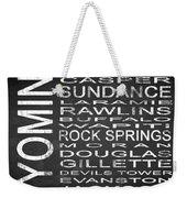 Subway Wyoming State Square Weekender Tote Bag