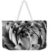 Succulent Petals Black And White Weekender Tote Bag by Kelley King