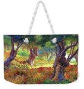 Poppies And Olive Trees Weekender Tote Bag