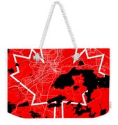 Sudbury Street Map - Sudbury Canada Road Map Art On Canada Flag Symbols Weekender Tote Bag