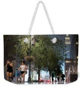 Sudden Downpour, New York City -130522 Weekender Tote Bag by John Bald