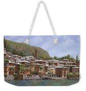 Sul Lago Di Como Weekender Tote Bag by Guido Borelli