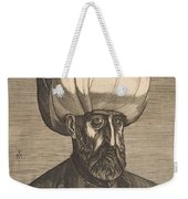 Suleyman The Magnificent , Engraved By Melchior Lorck Weekender Tote Bag