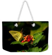 Sulpher Butterfly On Lantana Weekender Tote Bag