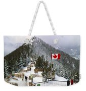 Sulphur Mountain In Banff National Park In The Canadian Rocky Mountains Weekender Tote Bag