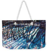 Sumac Snow Shadows Weekender Tote Bag