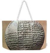 Sumerian Cuneiform Weekender Tote Bag