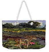 Summer And Horse Statue Weekender Tote Bag