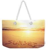 Summer Background Weekender Tote Bag