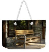 Summer Bench Weekender Tote Bag