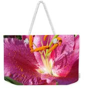 Summer Botanical Garden Art Pink Calla Lily Flower Baslee Troutman Weekender Tote Bag