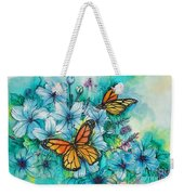 Summer Butterflies Weekender Tote Bag