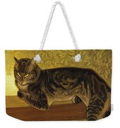 Summer Cat On A Balustrade Weekender Tote Bag