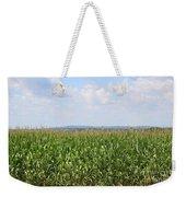 Summer Corn And Blue Skies In Maine  Weekender Tote Bag