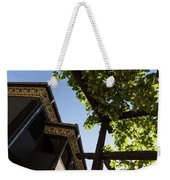 Summer Courtyard - Decorated Eaves And Grape Arbors In The Sunshine Weekender Tote Bag