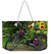 Summer Cycling Weekender Tote Bag