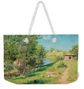 Summer Day By The Stream Weekender Tote Bag