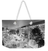 Summer Day On The Victorian Veranda Bw 03 Weekender Tote Bag