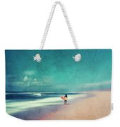 Summer Days - Abstract Seascape With Surfer Weekender Tote Bag