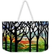 Summer Forest Abstract  Weekender Tote Bag