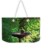 Summer Fountain Impasto Weekender Tote Bag