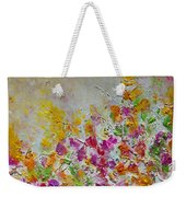 Summer Fragrance Abstract Painting Weekender Tote Bag by Julia Apostolova