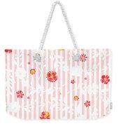 Summer Garden Floral Pattern Weekender Tote Bag