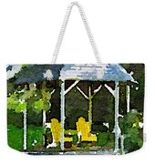 Summer Gazebo With Yellow Chairs Weekender Tote Bag