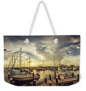 Summer Harbor Sunset Weekender Tote Bag