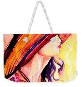 Summer Hat Weekender Tote Bag