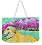 Summer In The Mountains With Summer Snow Weekender Tote Bag