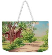 Summer Landscape With Hens Weekender Tote Bag
