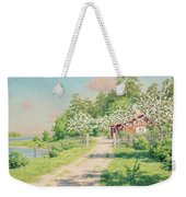 Summer Landscape With House Weekender Tote Bag