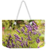 Summer Lavender In Lush Green Fields Weekender Tote Bag