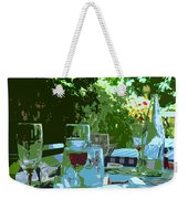 Summer Lunch Remembered Weekender Tote Bag