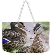 Summer Mallard Couple Weekender Tote Bag