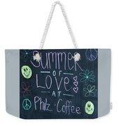 Summer Of Love At Philz Coffee Weekender Tote Bag