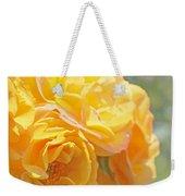 Golden Yellow Roses In The Garden Weekender Tote Bag