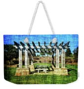 Summer Pergola Rest Spot Weekender Tote Bag