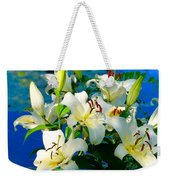 Summer Pond French Lilies Weekender Tote Bag