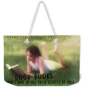 Summer Reading Quote Weekender Tote Bag