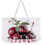 Summer Red Cherries Weekender Tote Bag