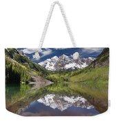 Maroon Bells Aspen Colorado Summer Reflections Weekender Tote Bag